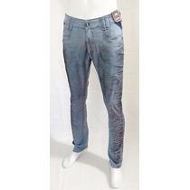Calça Masculina Jeans Lycra Super Skinny Rock