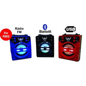 Caixa De Som Potente Portátil Com Bluetooth Pequena A668 Fm
