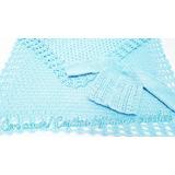 Ajuar De Saquito Y Manta Recién Nacido Tejido A Crochet