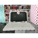 Capa Teclado Rosa Tablet Multilaser 7 Polegadas V8 Usb Nova