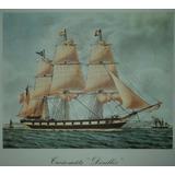 Barco Antiguo Reproducción Lámina 40 X 40 Cm.