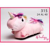 Pantufla Unicornio Con Led