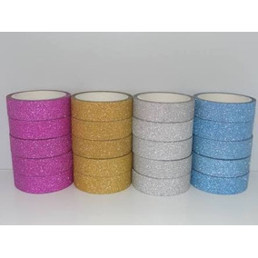 Kit De 10 Fitas Adesivas Com Glitter