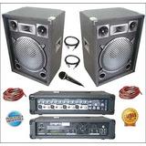 Equipo De Audio Completo 2 Bafles Cabezal Usb Micrófono 0 Km