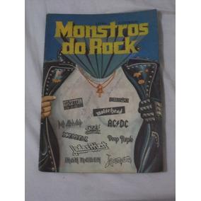 Album Monstros Do Rock Editora Petit Color Anos 80 Com 8 Fig