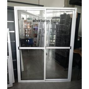 Puerta Ventana Balcon Aluminio Blanco 150x200 Cm V/entero