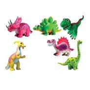 Dinosaurio Caricatura Muñeco De Goma 19cm