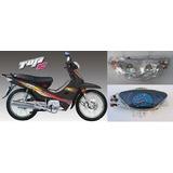 Kit Plasticos Maverick Top 110cc Negro Con Optica Y Tablero