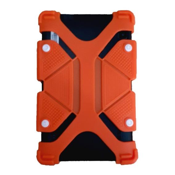 Funda Silicona Tablet 7/8 Pulgadas Extensible + Vidrio 8puLG