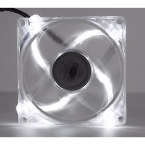 2 Cooler Fan 4 Led Branco 8cm 80mm Gabin Ventoinha Dx-8tbr