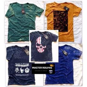 C/4 Camisetas Camisa Blusa Lavadas Atacado Direto Da Fábric