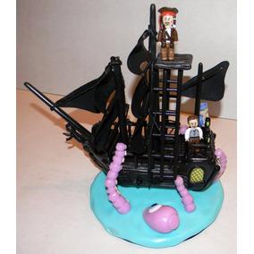 Adorno Centro De Torta Souvenirs Porcelana Fría Lego Piratas