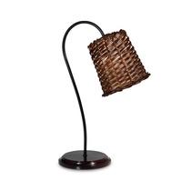 Lámpara De Mesa Canasto De Mimbre Chico 1 Luz E27 Buena Luz
