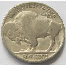 Moneda Estados Unidos Us 5 Cent Bufalo 1920 Km # 134
