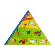 Quebra-cabeças Infantil Conhecendo A Pirâmide Alimentar