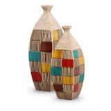 Vaso Atalaia Colorido Decoração Cerâmica Aracaju - Dupla