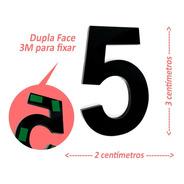 Números E Letras De Apartamento 3cm Em Acrílico 3mm C/ Molde