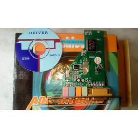 Placa De Som Semi Nova Pci 3d Sound Card Crystal Cs4280-4ch