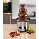 Fonte De Chocolate Luxo Inox Orig. Grande 3 Torres Cascata