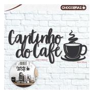 Espaço Gourmet Cantinho Do Café Em Mdf Preto P/ Decorar