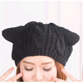 Gorro Con Orejas De Gato Negro
