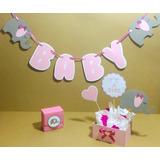 Decoración Baby Shower Banderines Recuerdos Centro De Mesa