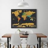 Mapa Mundial Viajero Rascar Scratch Map Tamaño Grande