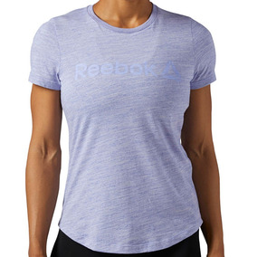 Playera Atletica Elements Logo Marble Mujer Reebok Bs4031