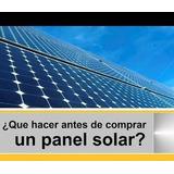 Kit Planta Modulo Panel Solar Batería Ups Led, Calculo De