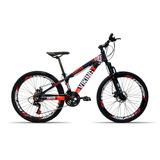 Bicicleta Aro 26 Vikingx X25 21v Index Freio A Disco Roxo