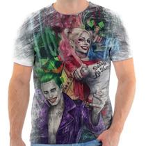 Camisa Camiseta Personalizada Arlequina E Coringa Filme 3