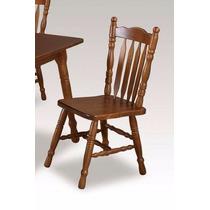 Cadeira Jantar Madeira Country Quadrada Com Palheta