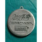 Llavero De Coca Cola, Cinemark Y Marvel De Aluminio