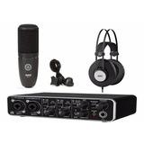 Interface Umc204 Behringer Microfono Akg P120 Audifono K72