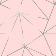 Papel Parede Fendi Zara Silver Fundo Rosa Claro 10mtx58cm