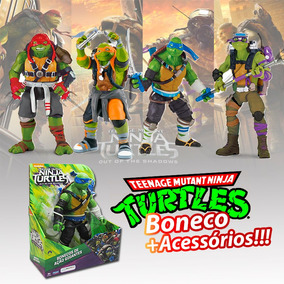 Boneco As Tartarugas Ninja Fora Das Sombras 27 Cm