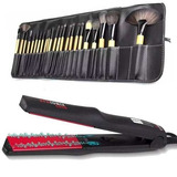 Alisador Gama Red Ionix Duo + Set Maquillaje 24 Pcs