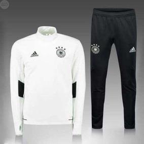 Pants Completo adidas Alemania Blanco 2017-2018 Entubado