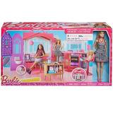 Nova Casa Luxo Rosa Da Boneca Barbie Importado + Brinde