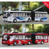 Miniatura Onibus Articulado Elétrico(tróleibus)metal Esc1:50