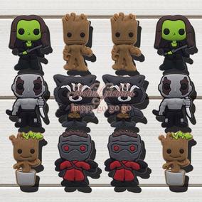 Combo 5 Pines Jibbitz 3d Guardianes De La Galaxia Para Crocs