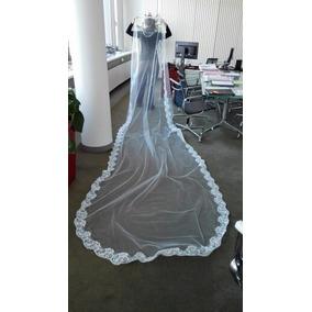 Véu De Noiva Casamento Longo Renda 4,5 Metros Pronta Entrega