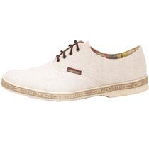 Zapato Casual Perry Ellis Blanco Con Cafe Caballero