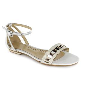 Sandalia Para Mujer Rafael Ferrigno 1110-036418 Color Blanco