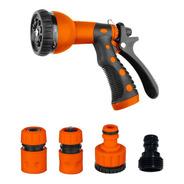 Set Pistola Riego 8 Funciones Patrones + Conectores Kushiro