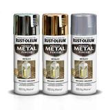 Aerosol Rust Oleum Acabado Metálico-cromo Oro Aluminio Brexa