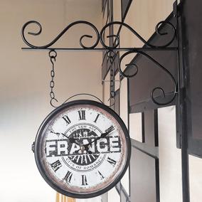 Relógio De Parede Estação Ferroviária Dupla Face Cor Cobre ... 029fe2c547