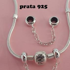 Pingente Trava De Segurança Silicone P/ Pandora Prata 925