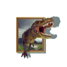 Sticker Decorativo De Pared 3d Dinosaurio T-rex2 60cm X 90cm