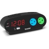 Alarma De Sharp Con Repetición, Usb Y 2 Tomas De Corriente,